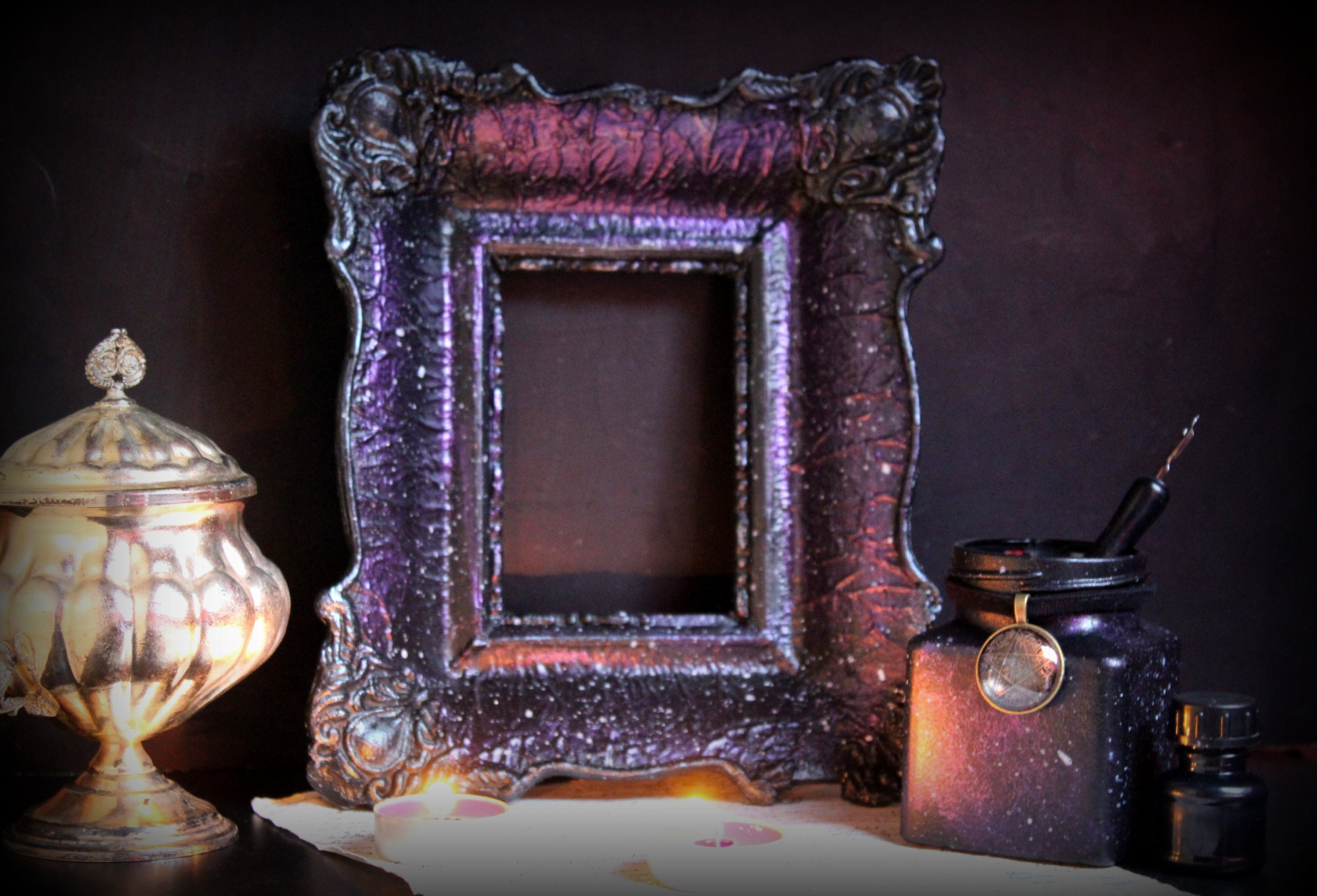 Gothic Wall Frame Witch Wall Frame Victorian Decor Victorian Etsy
