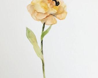 Watercolor Flower Original 9x12