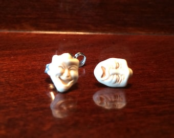 Comedy Tragedy post earrings