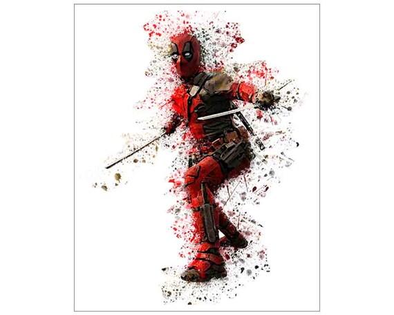 Deadpool Print INSTANT DOWNLOAD Art Superhero