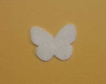 50 count Cowboy Boot Felt Cut Out for wax dipping and other project white only