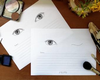 Demi Lids Makeup Face Chart - Single Eye Display Set - A4 Layout - Klaire de Lys Designs
