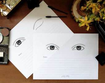Almond Eyes Makeup Face Chart - Single Eye Display Set - A4 Layout - Klaire de Lys Designs