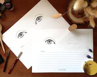 Large Eyes - Makeup Face Chart - Single Eye Display Set - A4 Layout - Klaire de Lys Designs