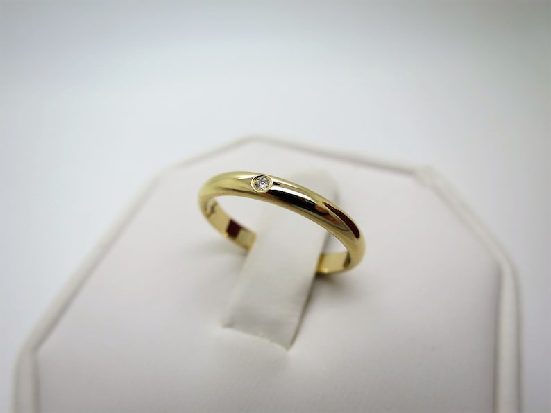 Cartier Wedding Band.Size 5 49 Cartier Wedding Ring 2 5mm Yellow Gold Diamond Band Cartier B4057600 Cartier 1895 Ring With Certificate Stackable Rings