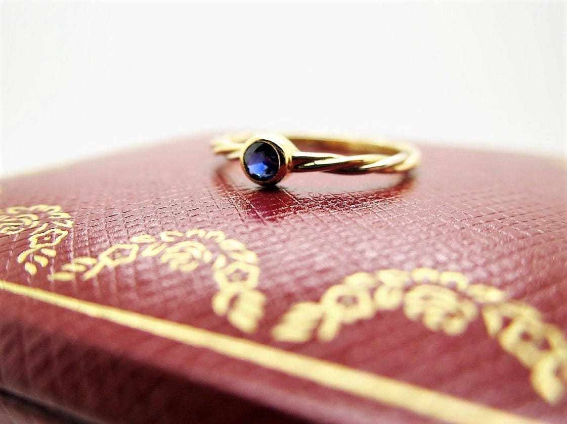 Size 5.75 CARTIER SAPPHIRE 3-Gold Ring Cartier XS Trinity | Etsy