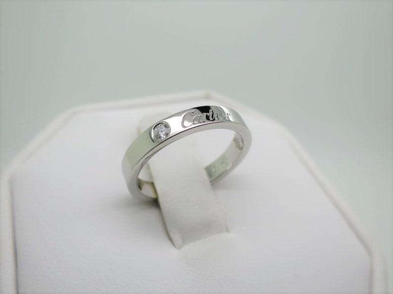 Cartier Wedding Band.Size 5 5 50 Cartier Wedding Ring C De Cartier Ring Platinum Diamond Ring W Cartier Certificate Cartier B4051300 Cartier B4051350