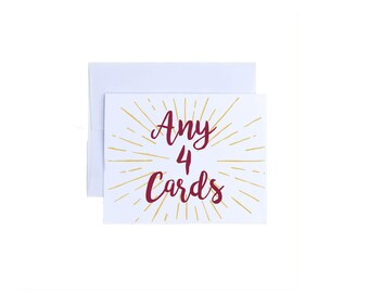 Any 4 Cards - Mix and Match Any Cards!