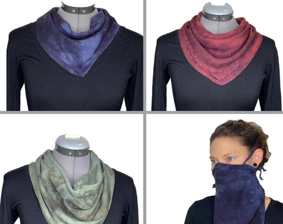 Neck Gaiter. Scarf Mask. Open-air mask