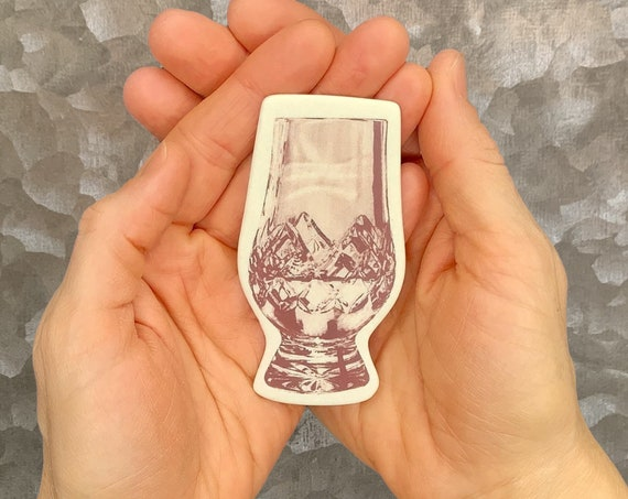Glencairn Whisky Glass, Scotch Whisky refrigerator magnet