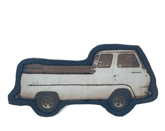 Little Truck, iron on patch, brown, boho, patch for jeans, cool patches, gift, art print, solarfast, birthday, sew on, jacket patch, love