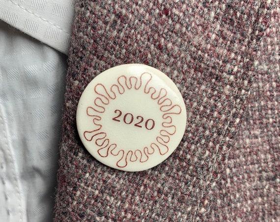 Coronavirus Brooch Pin Commemorative 2020 Lapel Pin