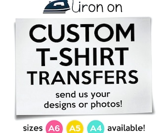 Custom Iron On T-Shirt Transfers Personalised Your Image Photo Design Hen Stag Nights Stickers Fancy Dress