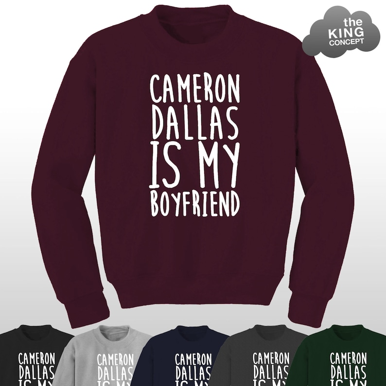 Cameron Dallas is My Boyfriend Sweatshirt Jumper Sweater Vine image 0
