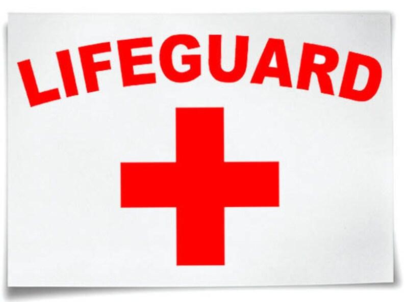 01756ce3e358 Lifeguard Iron On T-Shirt Transfer Logo Baywatch Freshers Stag