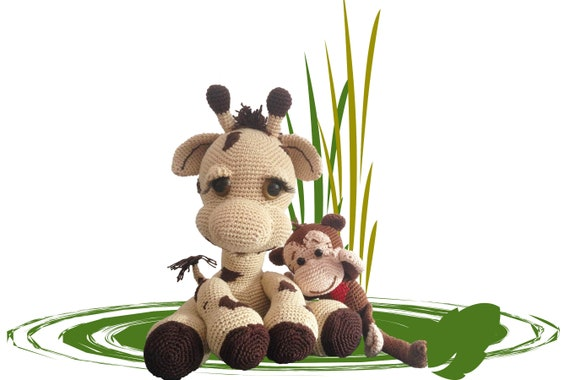 Giraffe Nick Und Affe Paul Häkelanleitung Amigurumi Häkeln Pdf Etsy