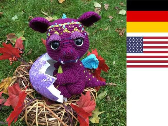 Dragonbaby 003 Grumpy Pattern Amigurumi Pdf Deutsch English Etsy