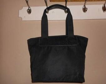 f151f9bd86 SALVATORE FERRAGAMO 15 x 10 x 6 Black Tote Shoulder Bag Italy