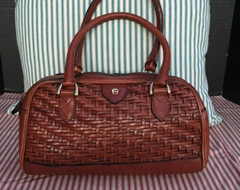 71e707482370 ETIENNE AIGNER VINTAGE Leather Handbag