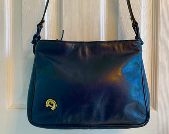 8b57c69345228 Aigner blue bag | Etsy