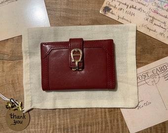2098a8ffacffd ETIENNE AIGNER VINTAGE Unused Burgundy Bi Fold Wallet Card Case