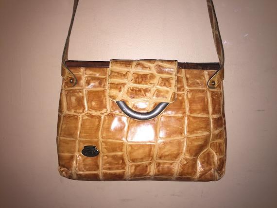 ec14e46f69 ETIENNE AIGNER VINTAGE Embossed Leather 12 X 8.5 X 3 Shoulder