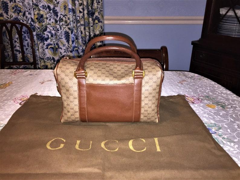 268636e6175 VINTAGE GUCCI 10 X 7 X 4.75 Satchel Bag