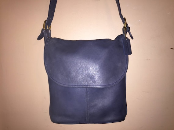318178752b72 COACH VINTAGE Blue Leather Whitney Hobo Shoulder Bag 4115 USA