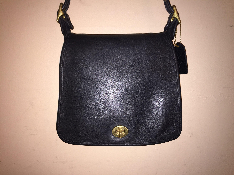 0db8f9d52cfe COACH VINTAGE Black 7.5 X 8 X 2.5 X 23 Companion Shoulder Bag