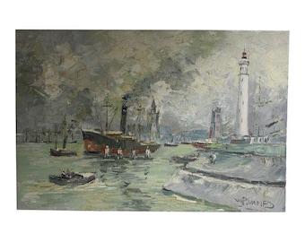 Walter Prescher Van Ed Seascape Oil Painting