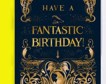 Have a fantastic birthday Fantastic Beasts Card