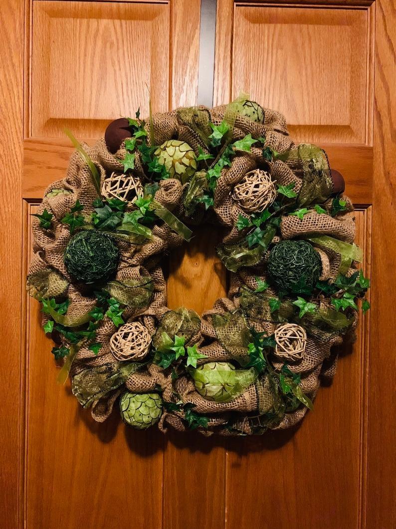 Beautiful Burlap Wreath