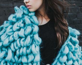 Extreme chunky cardigan. Giant knit oversized jacket. Her wooly knit sweater. Chunky knitting. Fluffy knit coat. Extreme bulky yarn knitwear