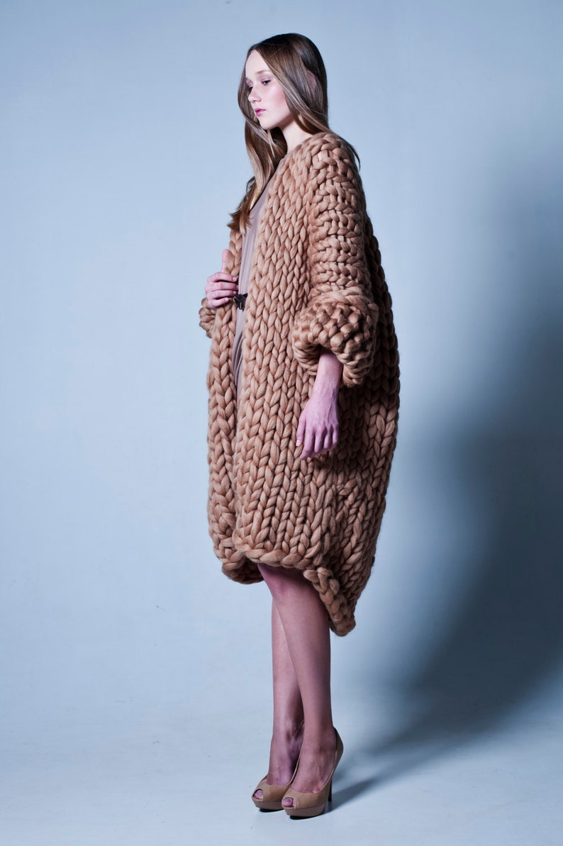 Chunky Knit. Knit cardigan. Chunky sweater. Super giant image 0