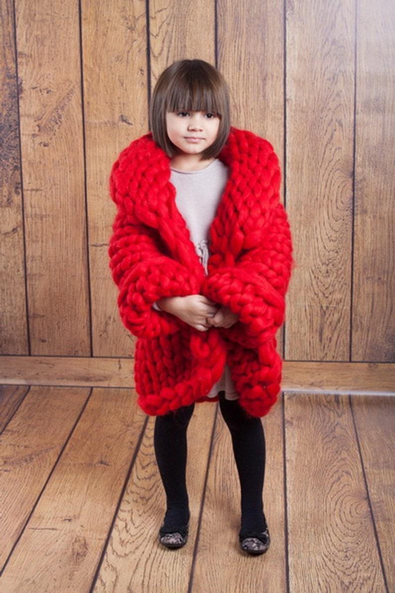 Chunky knit cardigan  for girls. Kids cardigan. Chunky image 0