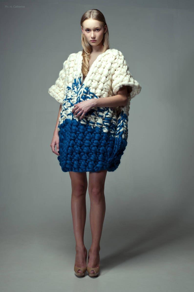 Chunky knit. Big yarn knit vest. Chunky knitting. Oversized image 0