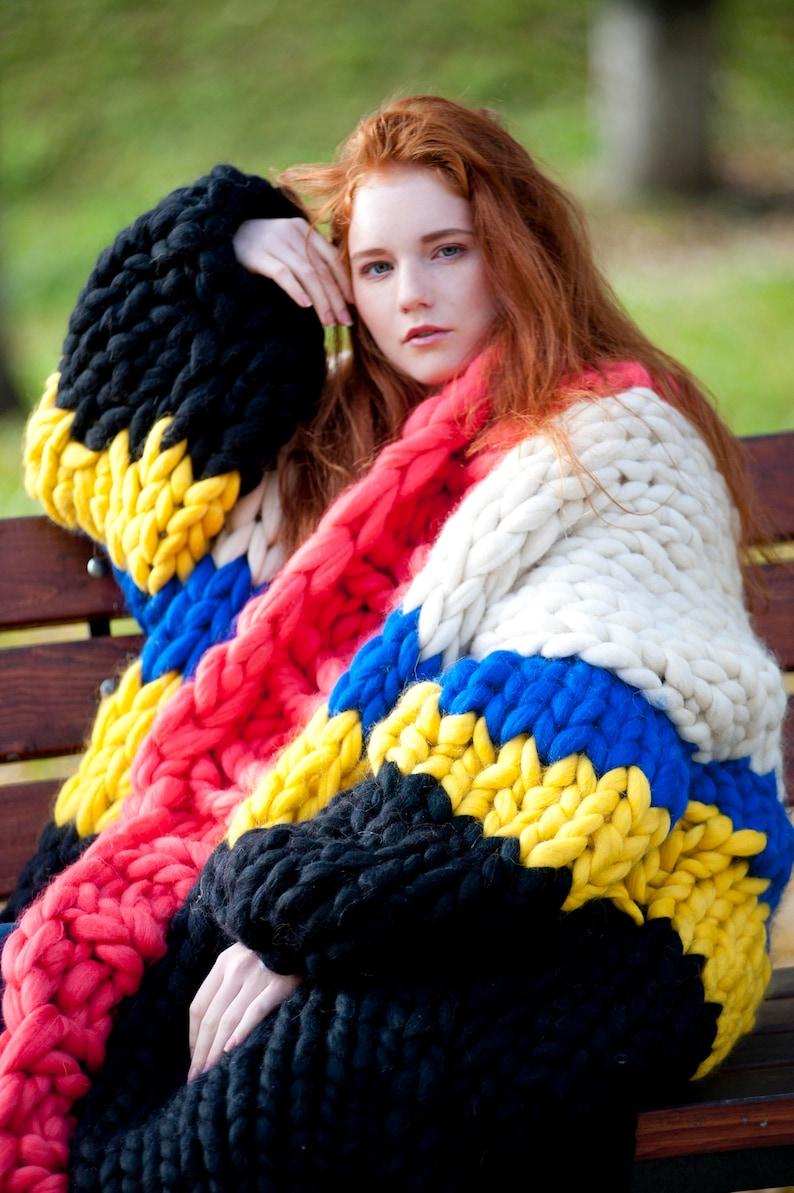 Chunky knit  oversized cardigan. Super chunky knit sweater. image 0