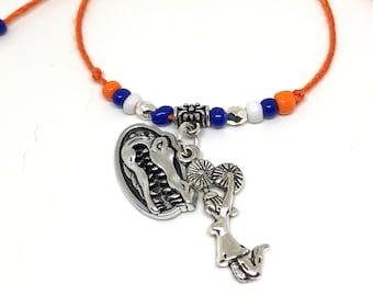 CHEERLEADING FRIENDSHIP Bracelets GATORS Mascot, Create Your Own Cheerleading Bracelet, Cheerleading charm, cheerleader bow, cheer coach