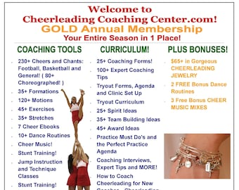 How to Coach Cheerleading - COMPLETE Cheerleading Coach Program - Cheerleader Coach, Cheer Coach, Cheerleading Chants, Cheer MOM, Cheer Jump