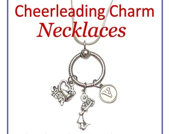 Cheerleading Charm Holder Necklace, Sterling Silver, Cheerleader Jewelry, Cheerleading Gifts, Cheerleader Gifts, Cheer Coach, Cheer Mom
