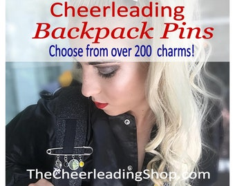 Cheerleader Pin, Cheerleading Backpack, Cheer Pin, Chee Gift, Cheerleading Jewelry, Cheerleading Gift, Cheer Gift, Cheer Coach, Cheer Bow