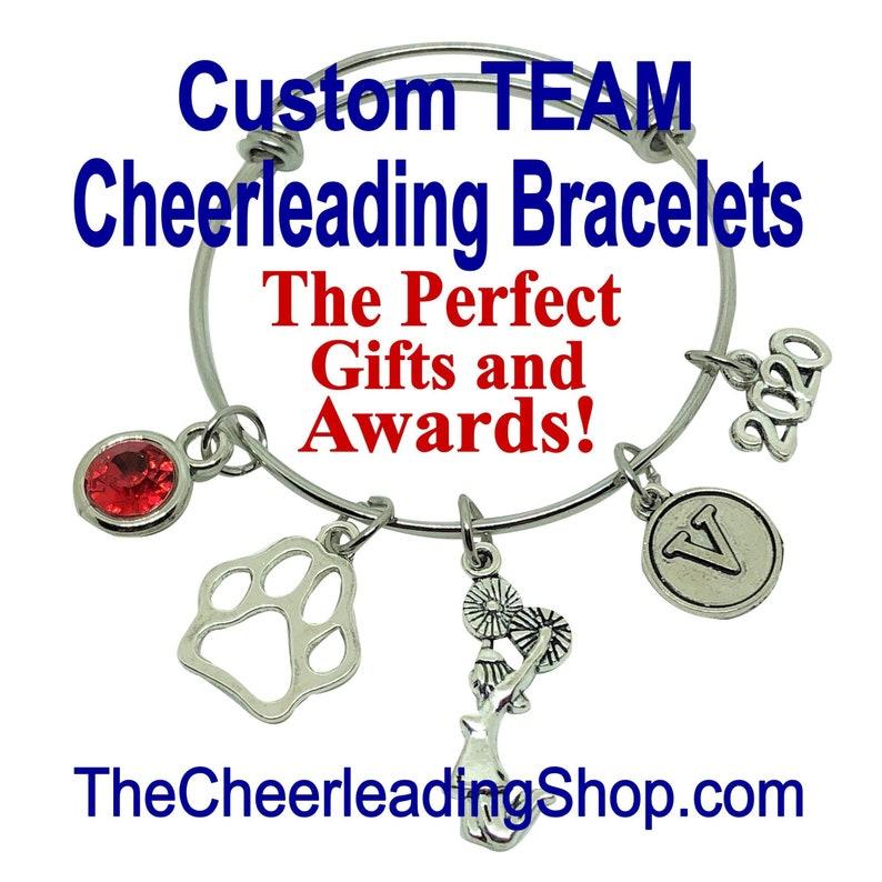 CUSTOM Cheerleading Bracelet Mascot Jewelry Cheerleading image 0