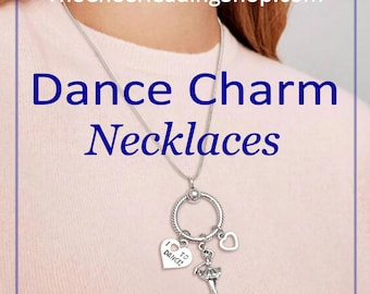Dance Charm Necklace, Sterling Silver Charm Necklace, Charm Holder, Dance Jewelry, Dance Necklace, Dancer Gift, Dance Gift, Ballerina Gift