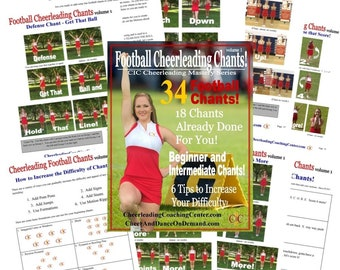 Cheerleading FOOTBALL CHANTS Ebook, Volume 1 - CIC Cheerleading Mastery Series
