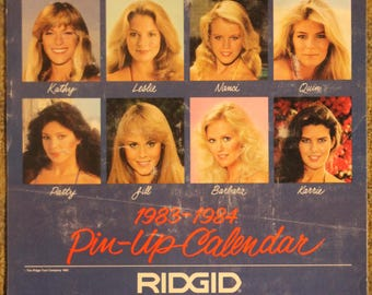 Ridgid-Brand Manufactured Tools and Equipment 1983-1984 Swimsuit Pin-Up Calendar