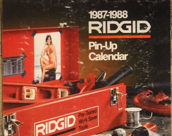 Ridgid-Brand Manufactured Tools and Equipment 1987-1988 Swimsuit Pin-Up Calendar
