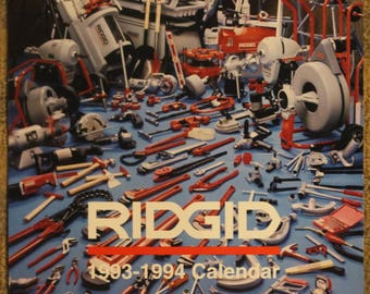 Ridgid-Brand Manufactured Tools and Equipment 1993-1994 Swimsuit Pin-Up Calendar
