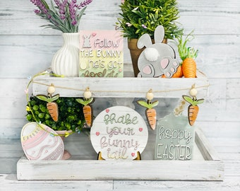 Easter Tiered Tray Set - Easter Tray Decorations - Tier Tray - Farmhouse Decor -