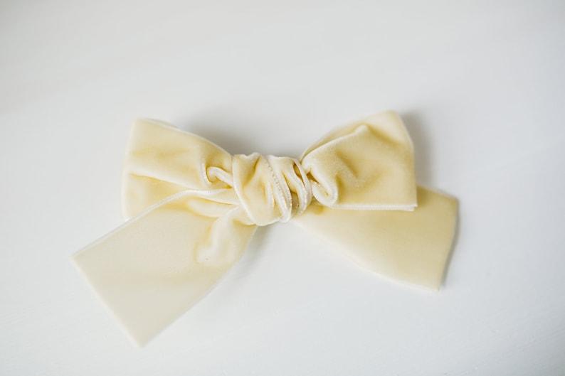 357bdedf96475 Ivory Velvet Hair Bow, Large Velvet Hair Bow, Cream Hair Bow, Velvet Hair  Bow, Velvet Hair Clip, Velvet Headband, Velvet Bows for Babies