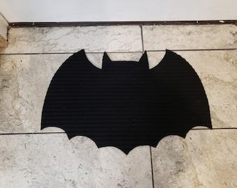 Bat Rug Welcome Mat Handmade Vampire Goth Halloween Spooky Creepy